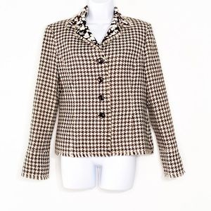 Kasper Womens acrylic black and white blazer